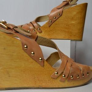 Michael Kors Wooden Platform Sandals
